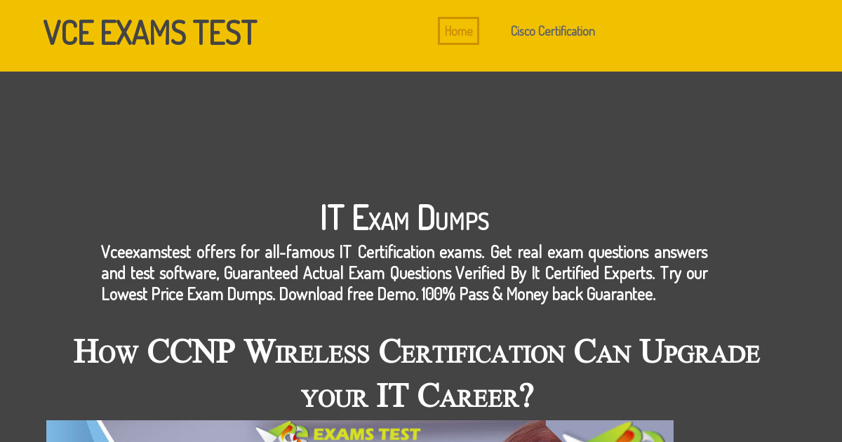 Vceexamstest Cisco Certification